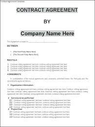 Simple Contractor Agreement Template Contract Lease Agreement Form Simple Template Construction