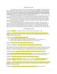 To Kill A Mockingbird Literary Terms Chart Key 70 Key Literary Terms
