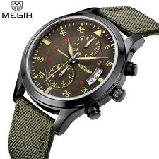 aliexpress com buy megir men watches top luxury brand megir men watches top luxury brand chronograph 6 hands mens designer watches man clock wristwatch megir