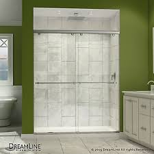 semi frameless sliding shower doors. charisma 34-inch x 60-inch 78.75-inch semi-frameless sliding shower door in chrome with left drain white acrylic base semi frameless doors