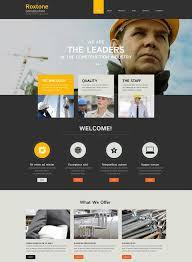 Construction Website Templates Extraordinary Best Construction Website Templates 28 Best Architecture