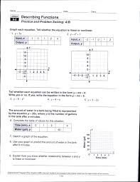 writing linear equations from a table worksheet lesson 5 2 answer
