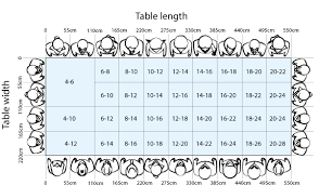 Love Haus Size Chart Rectangular Dining Table Sizes And Seating Guide In 2019