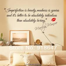 New High Quality English Quotes Wall Stickers Imperfection Is Beauty