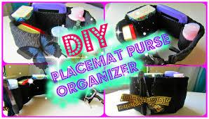 diy placemat purse organizer