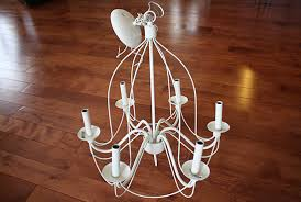 wrought iron candle socket chandelier
