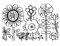 Coloring Pages Flowers To Colour Free Printable Coloring Pictures