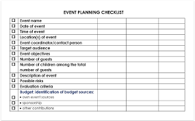 Event Planning Checklist Download Free Pdf Or Doc For Word