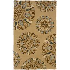 oriental weavers eden 87102 tan blue area rug