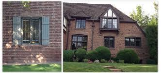 Red Brick House Brown Trim Chelowry Renovation Exterior Decor With - Exterior house renovation