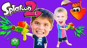 We Get PAINTED + Splatoon 2 Video Game ...