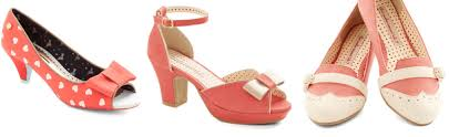 coral wedding shoes. Coral wedding shoes pumps flats and skulls Offbeat Bride
