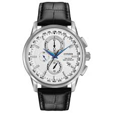 buy a citizen watch fraser hart citizen eco drive world chronograph a t men s black leather strap watch