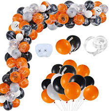 Auihiay 120 Pieces <b>Halloween Balloons</b> Arch Garland Kit with ...