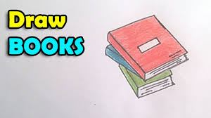 how to draw a book step by step for kids techers day card idea you