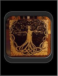 custom made celtic knot tree of life pyrography tree of life art