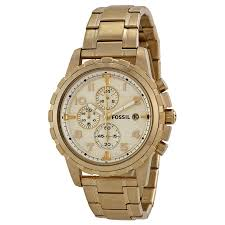 fossil dean chronograph champagne dial gold tone men s watch fossil dean chronograph champagne dial gold tone men s watch fs4867