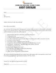 Internal Audit Circular Letter