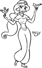 Disney Coloriage Princesse Jasmine Imprimer Et Colorier