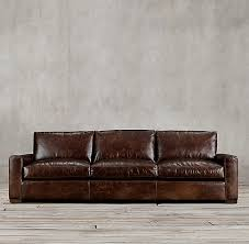 restoration hardware maxwell leather