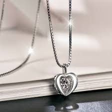 details about 18 heartbeat sterling silver dancing diamond jewel pendant necklace love gift