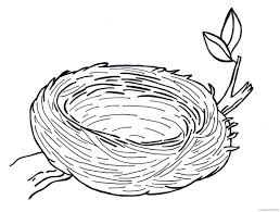 When the online coloring page has loaded, select a color and start clicking on the picture to color it in. Bird Nest Coloring Pages Bird Nest Images Pictures Printable Coloring4free Coloring4free Com