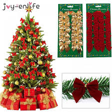 <b>Joy</b>-<b>Enlife 12pcs/lot</b> Bow Tie Christmas Tree Decoration Christmas ...