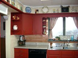 country style kitchen furniture. Country Kitchen Furniture Display Storage Above Wooden Cabinet Red Kitchens Style