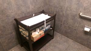 bathroom baby changing table. auto glass repair shop men\u0027s bathroom has a full blown standalone changing table baby