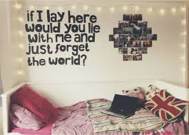 Quote, Fairy Lights, Bed, Teen Bedroom