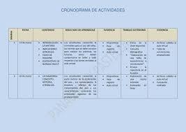 formato cronograma de actividades mensual cronograma de practicas de panaderia y pasteleria by juan carlos