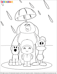 Small Picture Pocoyo Coloring Pages In The Coloring Library Coloring Home