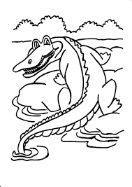Small Picture Coloring Pages Animals Crocodile Coloring Pages Crocodile