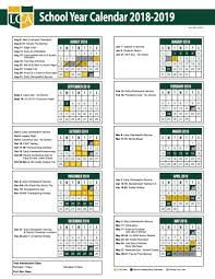 one page calender one page calendar legacy christian academy