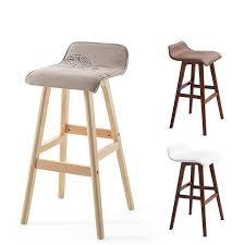 ecdaily wood bar stool bar chair creative european style high chair bar stool wood reception stylish
