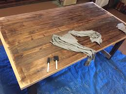 making dining room table. Custom Dining Room Table In The Making: Assembly And Staining Making