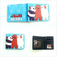 Design We Wallets Anime Cartoon We Bare Bears Wallet Grizzly Ice Bear Panda Cute Design Short Pu Leather Wallets For Girls