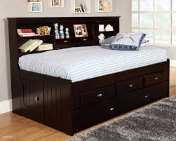 White Twin Bed Frame Wood Awesome Black Twin Trundle Bed ...