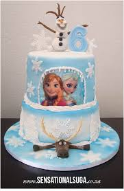 Frozen Cake With Olaf And Moose And Princess Edible Print