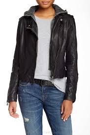 red leather jacket doma detachable lining moto heyzq mandarine