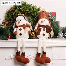 Christmas Decorations Artificial Christmas Tree Ornaments Doll Chrismas  Decorations for Home Vintage Snowman Gift Doll(