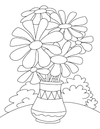 Small Picture Daisy flower pot coloring page Download Free Daisy flower pot