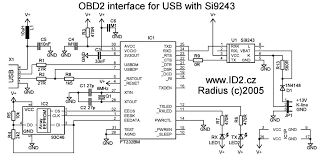 obd2 to usb interface cable scheme and plate pinout