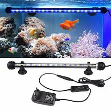 Dive Tank Light Us 7 89 25 Off Ip68 Waterproof Underwater Light 220v 110v Led Fish Tank Light Bar Aquarium Decoration Lamp Dive Submersible Lamp With Adapter In Led