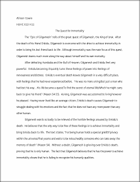 gilgamesh quest essay allison cowie huhc 013 h11 the quest for this preview has intentionally blurred sections sign up to view the full version