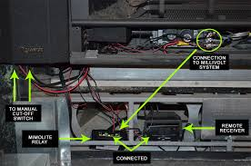 basically the connections are one side of the fireplace switch connection goes parallel with the side switch then to the relay negative