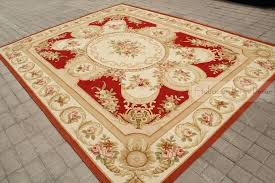 aubusson area rugs red pink ivory rug shabby french chic cream wool carpet decorative in from