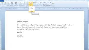 Use Mail Merge In Word 2010 To Create Documents Automatically