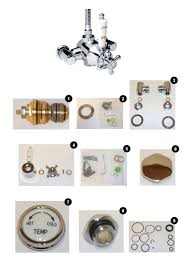 inta inta 50014cp intaflo traditional thermostatic exposed shower shower spares