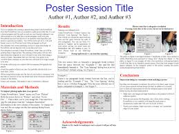 Making Posters With Powerpoint Poster Session Title Introduction This Is A Template For